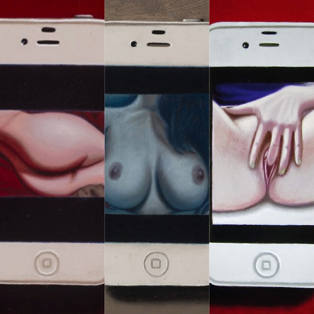 Oil paintings. Series of 3. #sexting #nudes #selfie @trekell_art_supplies #trekellartsupplies #dirty #iphone #apple #boobs #butt #vagina