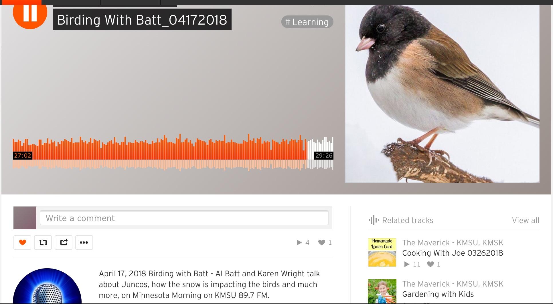 https://soundcloud.com/kmsu/birding-with-batt_04172018?utm_source=soundcloud&utm_campaign=share&utm_medium=email
