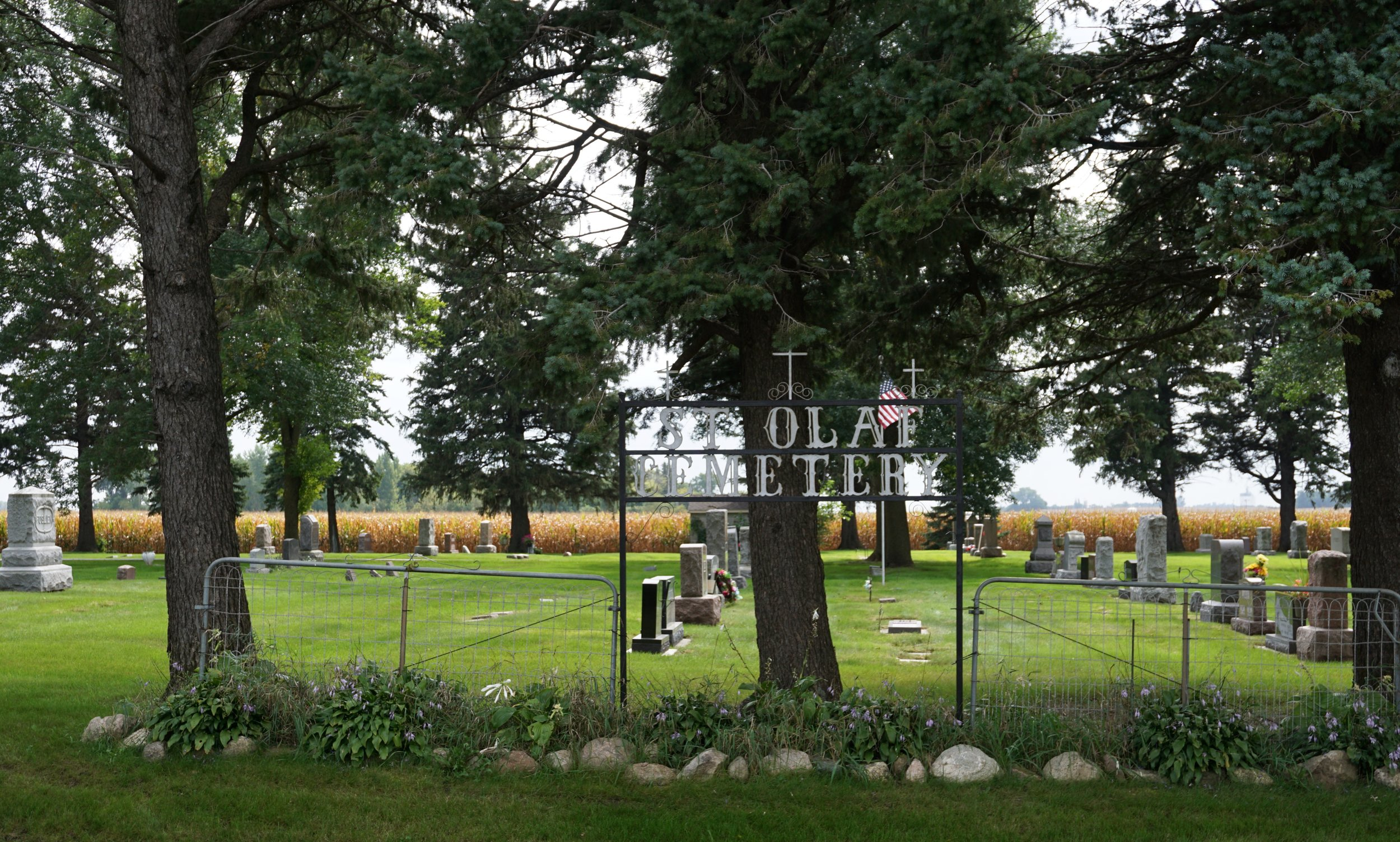 Olaf Haraldsson, Saint Olaf, is the patron saint of Norway. St. Olaf Cemetery is a peaceful place in Waseca County, in Minnesota.