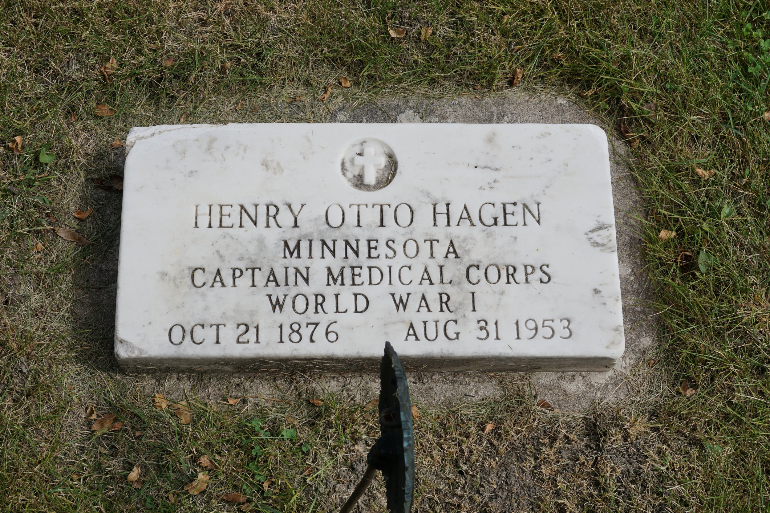 I cannot imagine the stories Henry Otto Hagen had to tell.  From St. Olaf Cemetery.