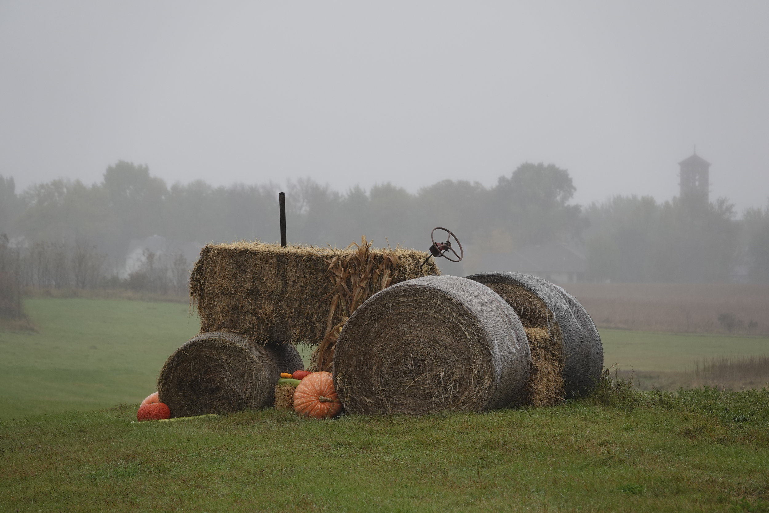 I saw this farm tractor between Meire Grove and Greenwald in Minnesota.
