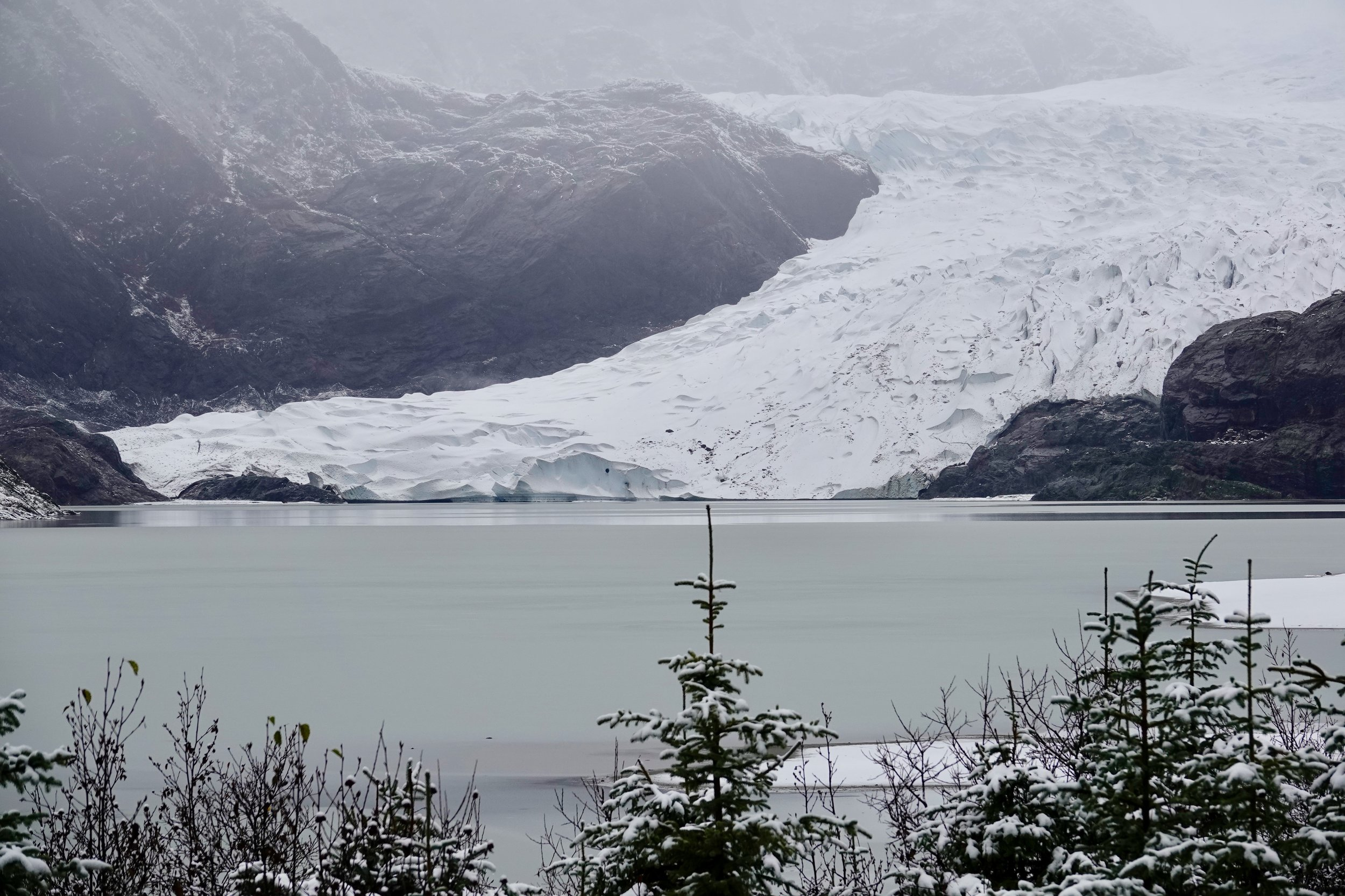 Mendenhall Glacier in Juneau.