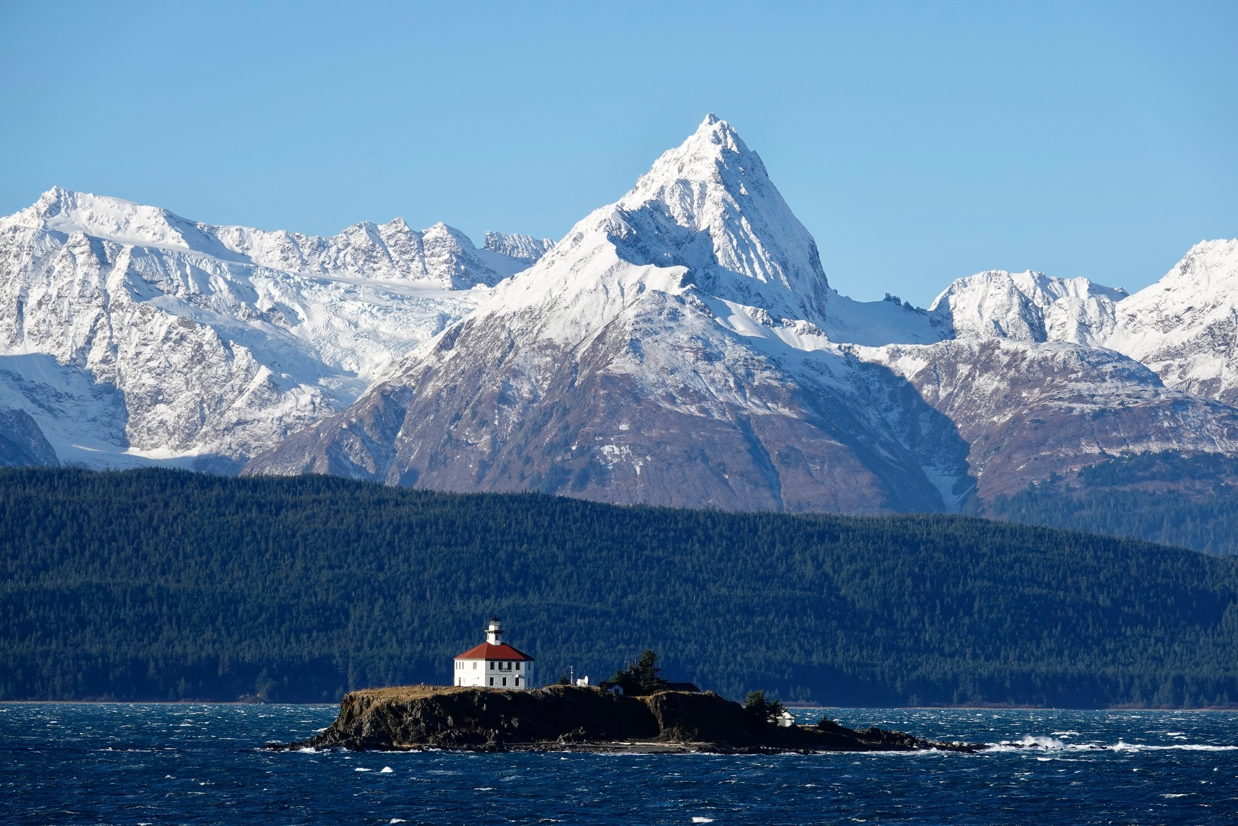 Eldred Rock Lighthouse in the Haines Borough, Alaska.