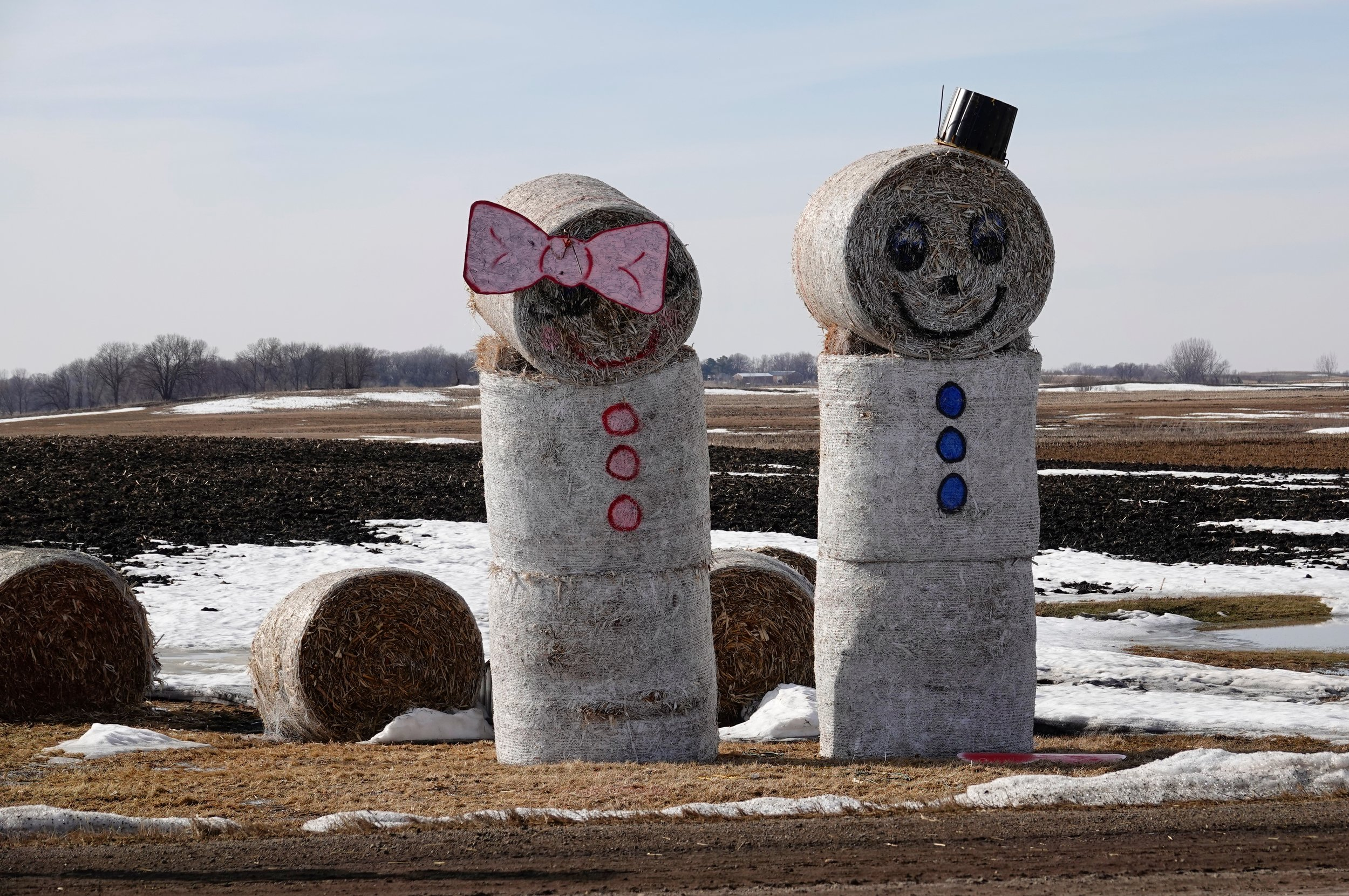 The Hay Bale Family seems happy.