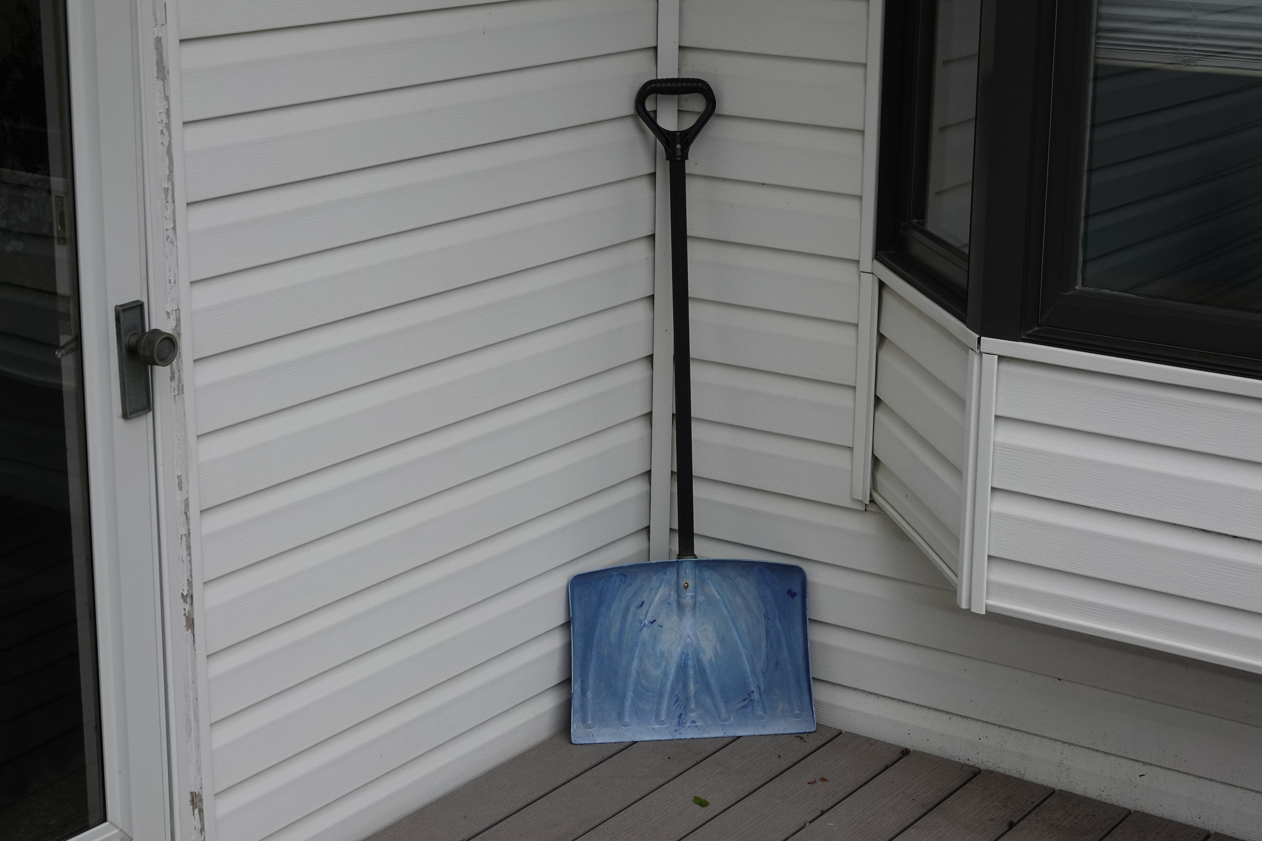 I put the snow shovel away. Winter is officially over.