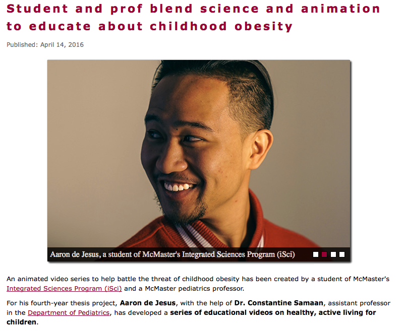 Aaron Daniel Films - McMaster University Faculty of Health Sciences Article