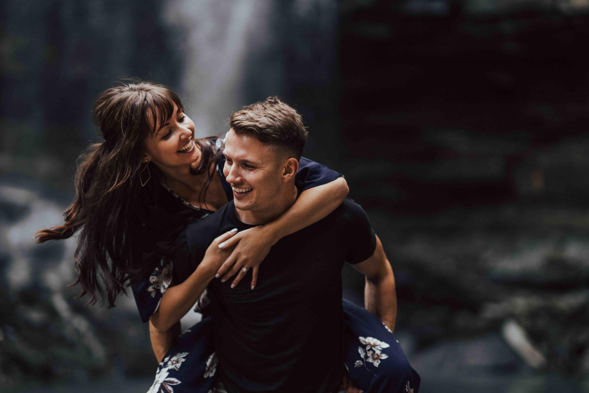 Surprise Proposal At Waterfall
