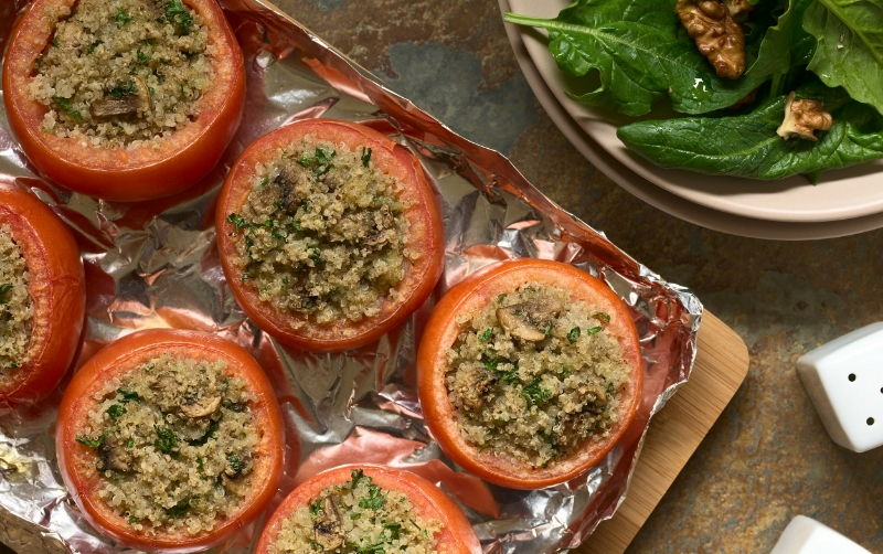 Stuffed Mushrooms for Gestational Diabetes