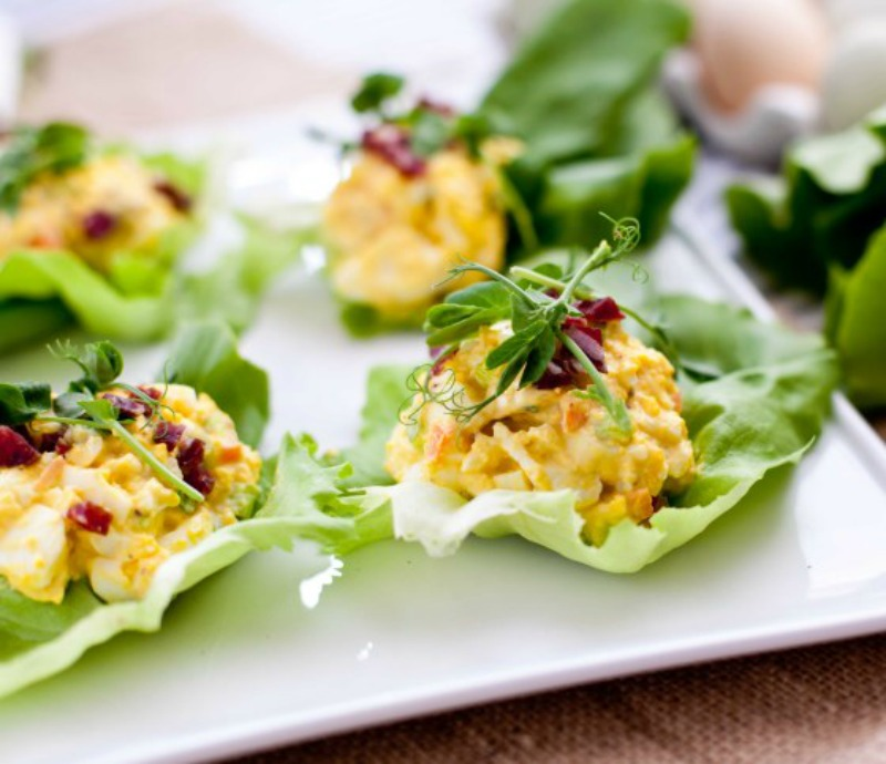 Curry Egg Lettuce Wrap