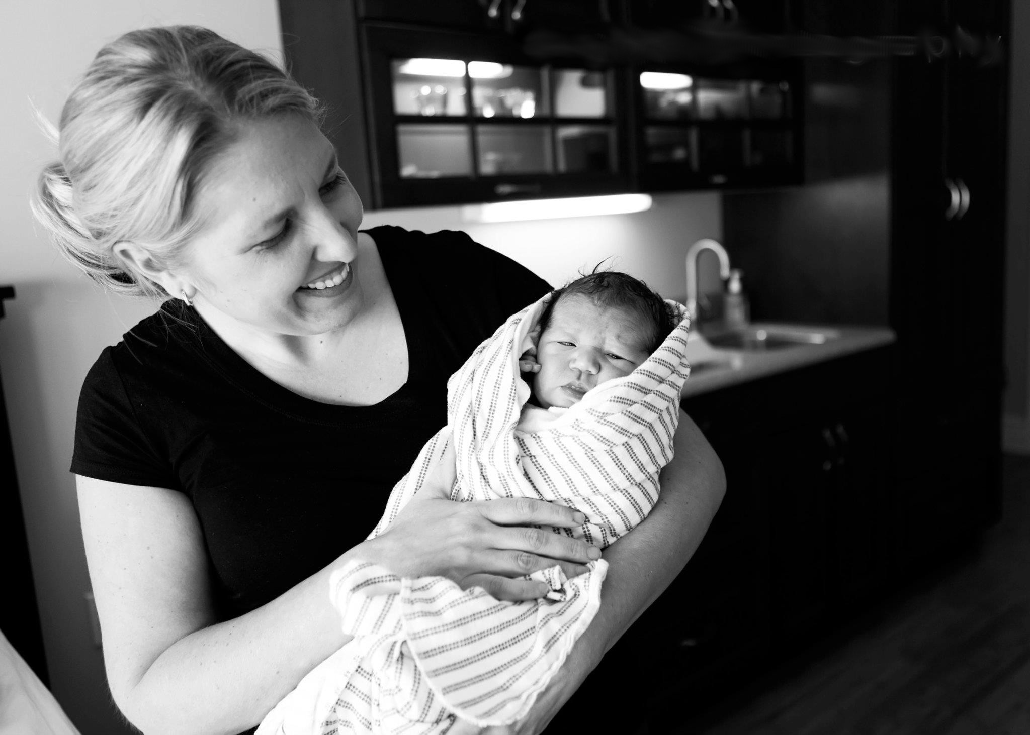 Dr. Amy With Newborn