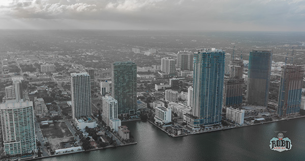 aerial photo of miami florida