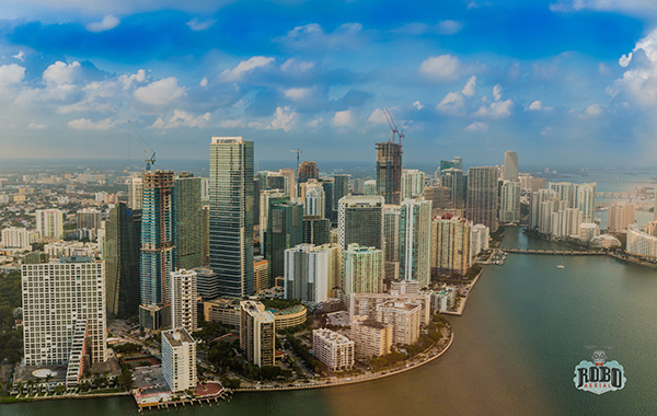 aerial photo of downtown miami
