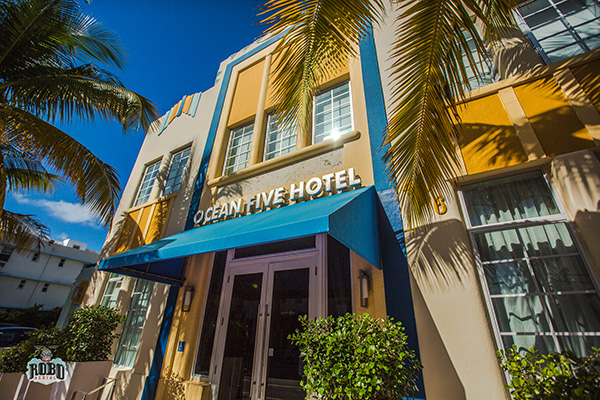 colorful miami hotel photo