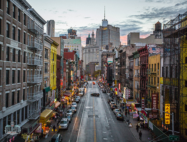heart of chinatown aerial photo nyc