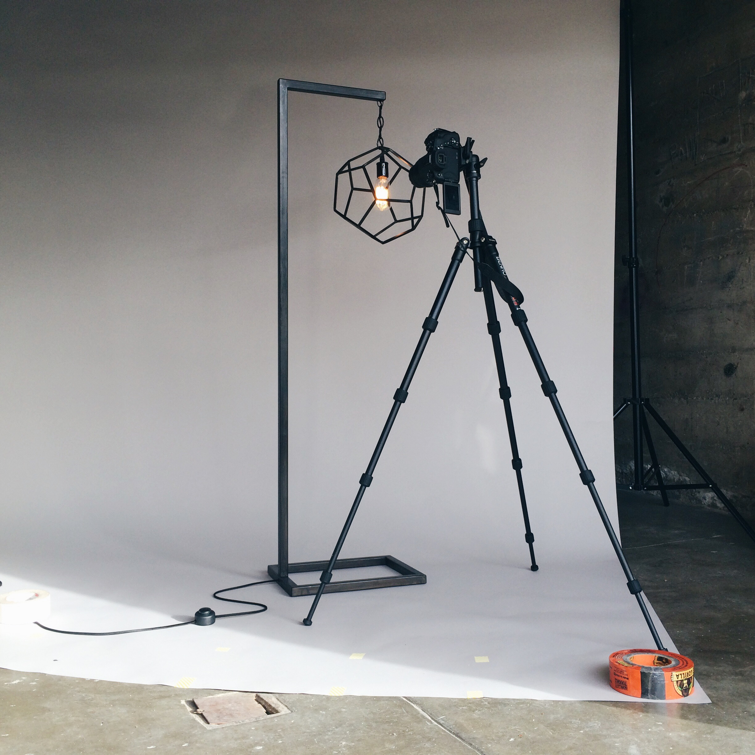 I turned our garage into a photo studio.