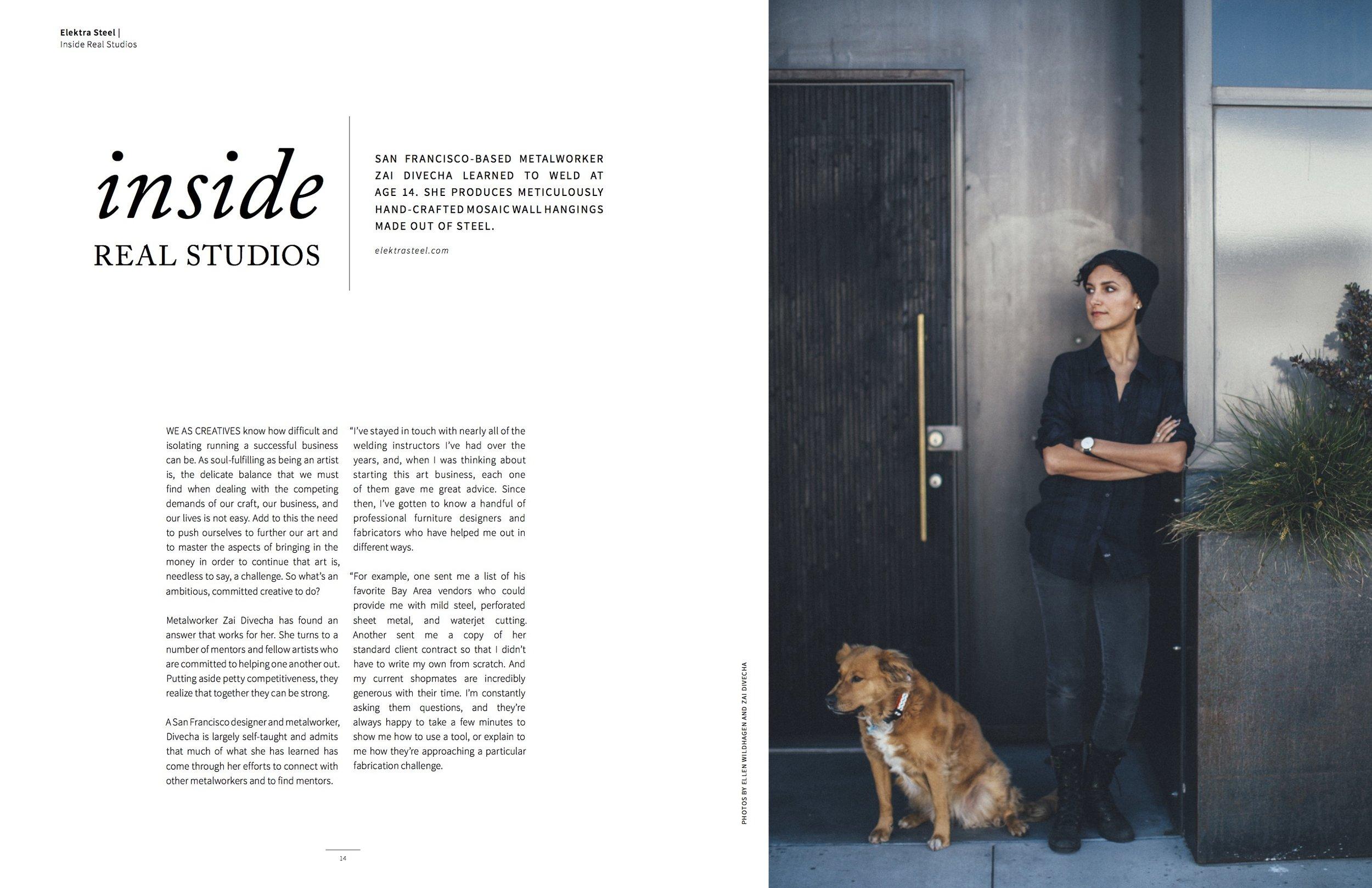 Elektra Steel in AGLOW Magazine - 1.jpg