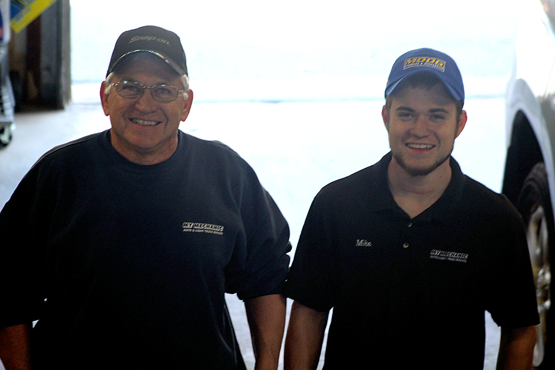 FAMILY BUSINESS  My Mechanic ownerSteve Faucherwith his son, ASE-Certified TechnicianMike Faucher.