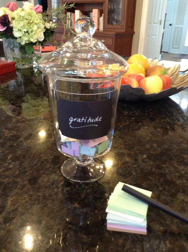 Gratitude Jar Idea