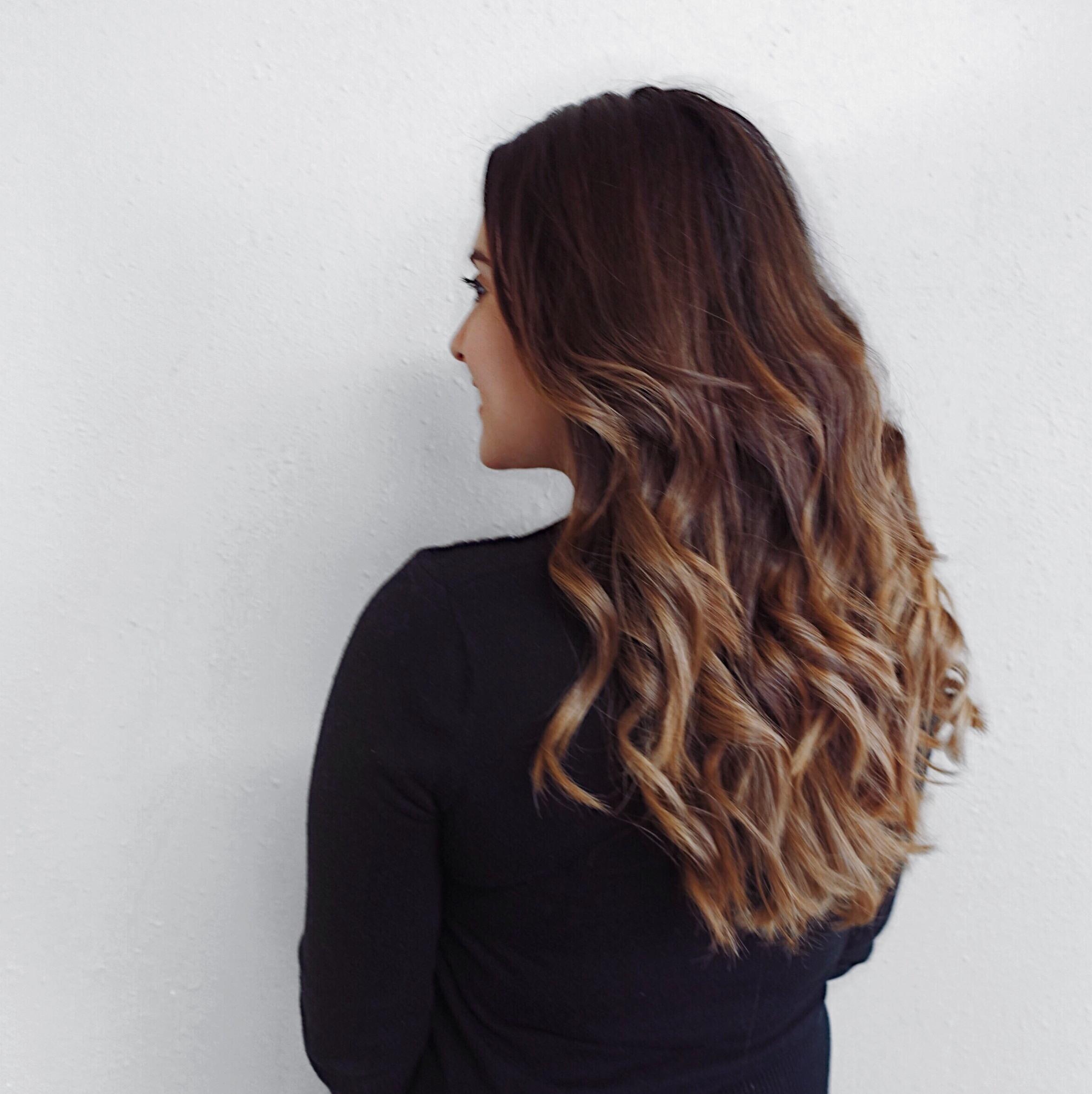 ghd copper flatiron - loose curls