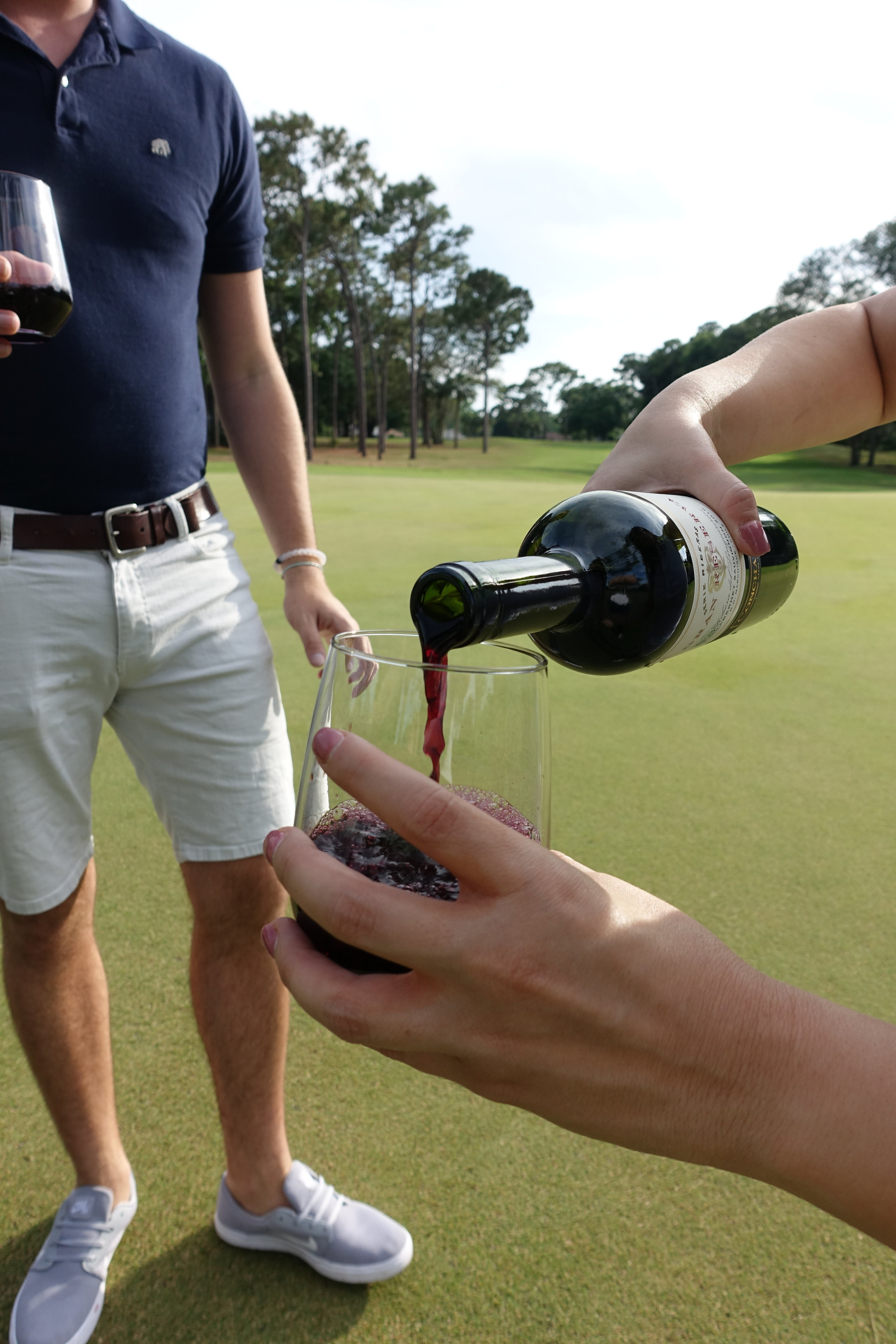 Golfing with Grand Reserva Wine