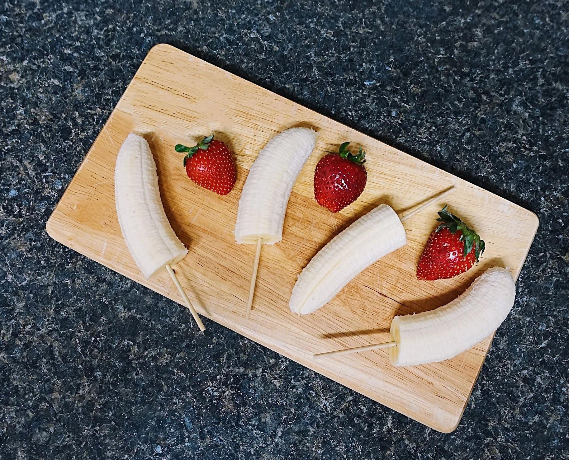 Banana and Strawberries