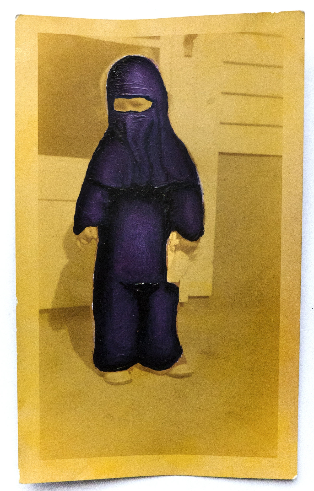 - |BABY'S FIRST BURKA| MASKED MEMORIESoil on vintage photograph