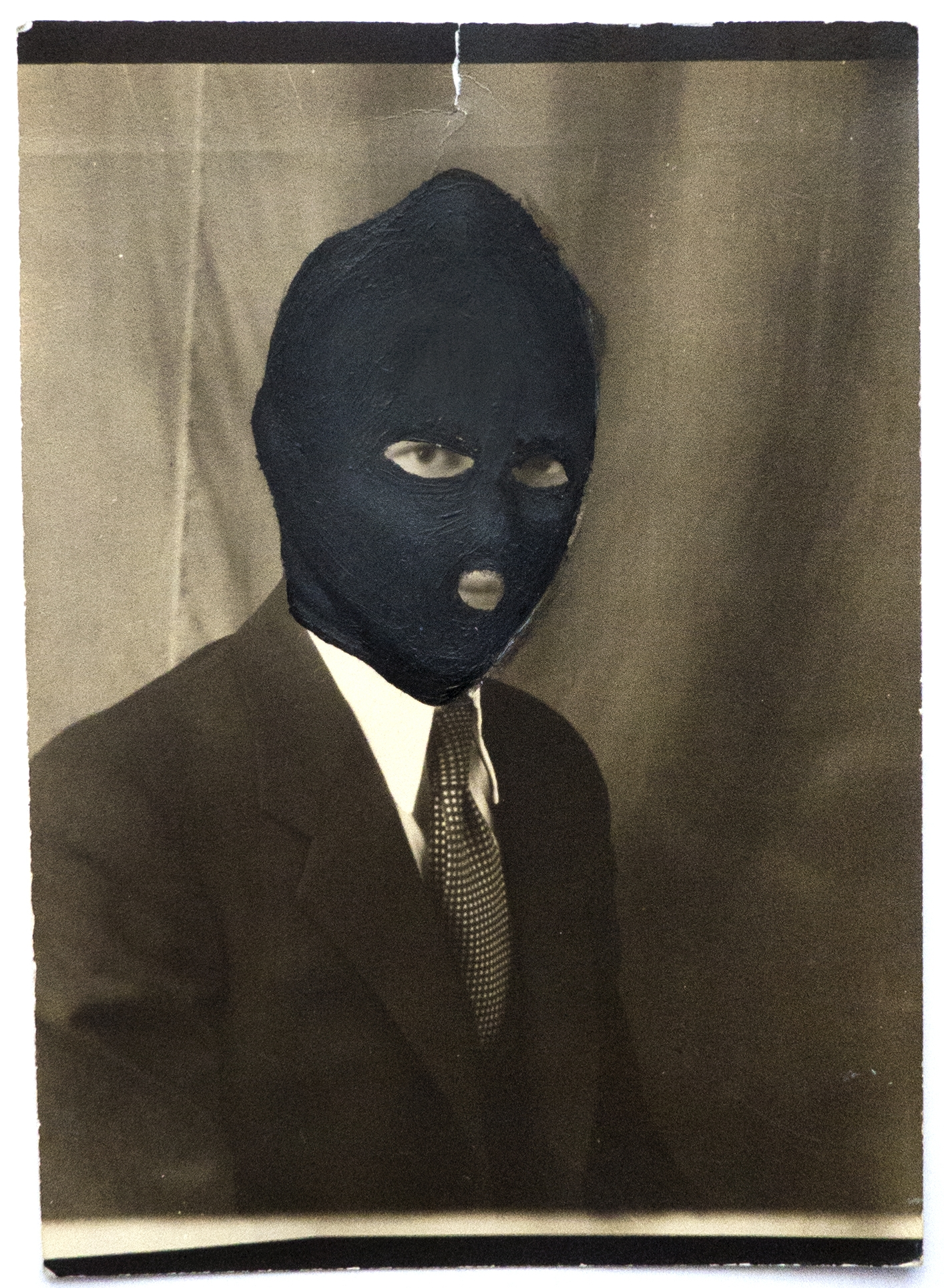 - |PORTRAIT OF A VANDAL| MASKED MEMORIESoil on vintage photograph