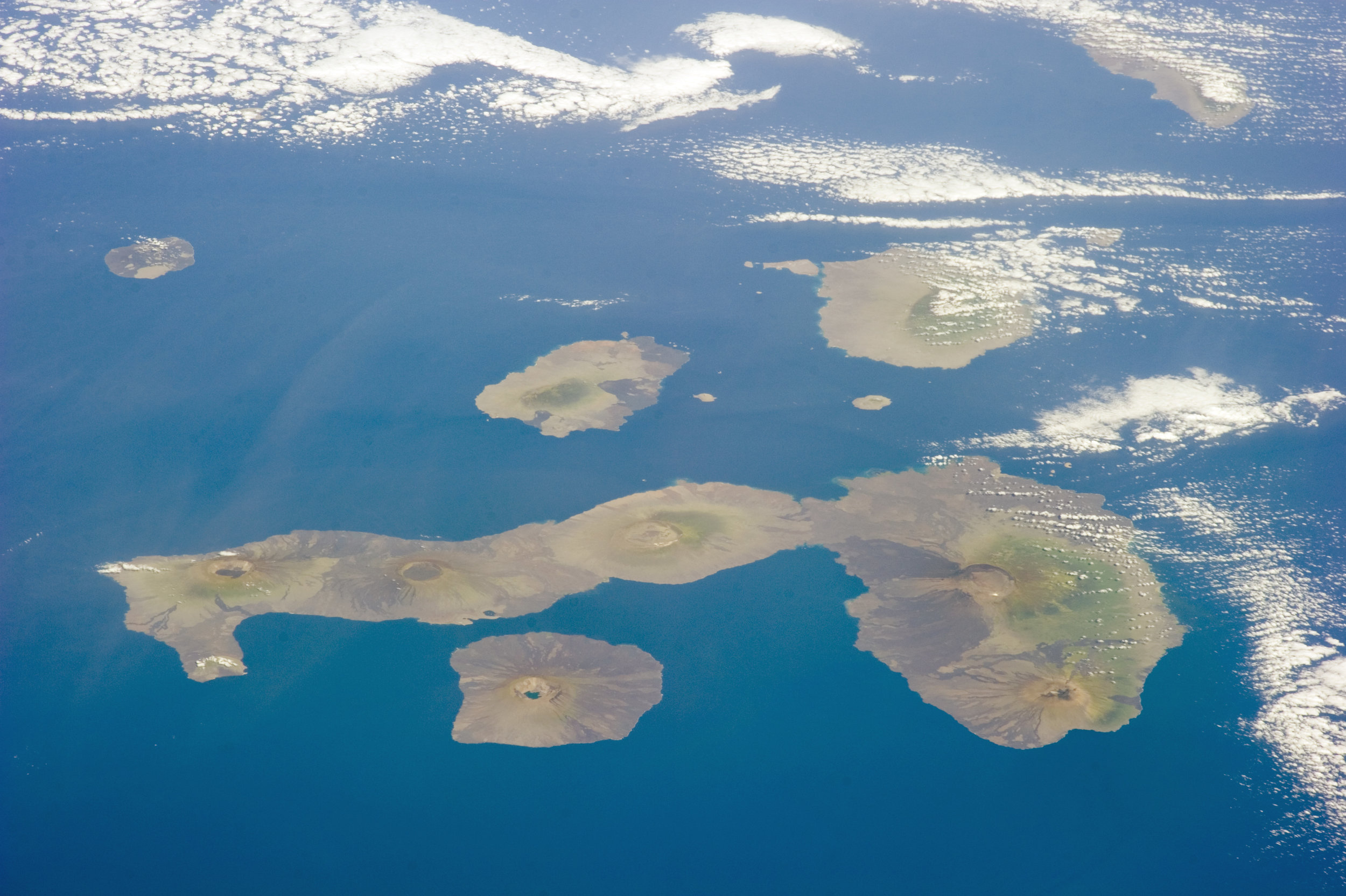 Galapagos Islands from the sky