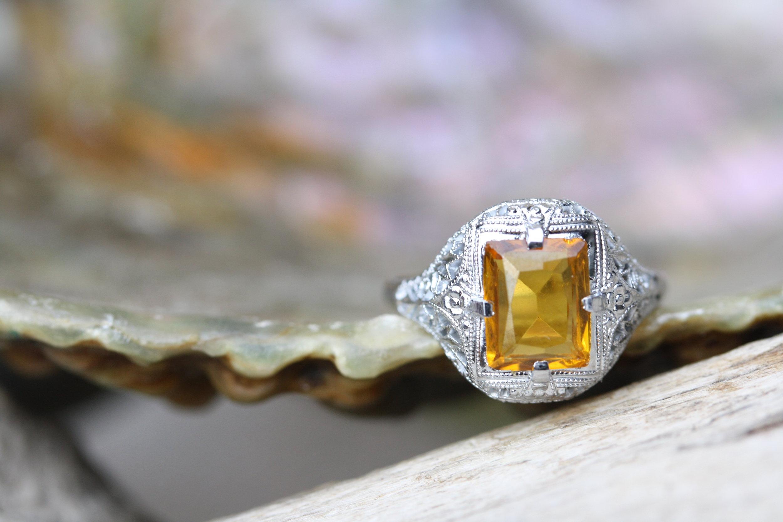 Estate Ring Orange Glass Deco_21 copy.JPG