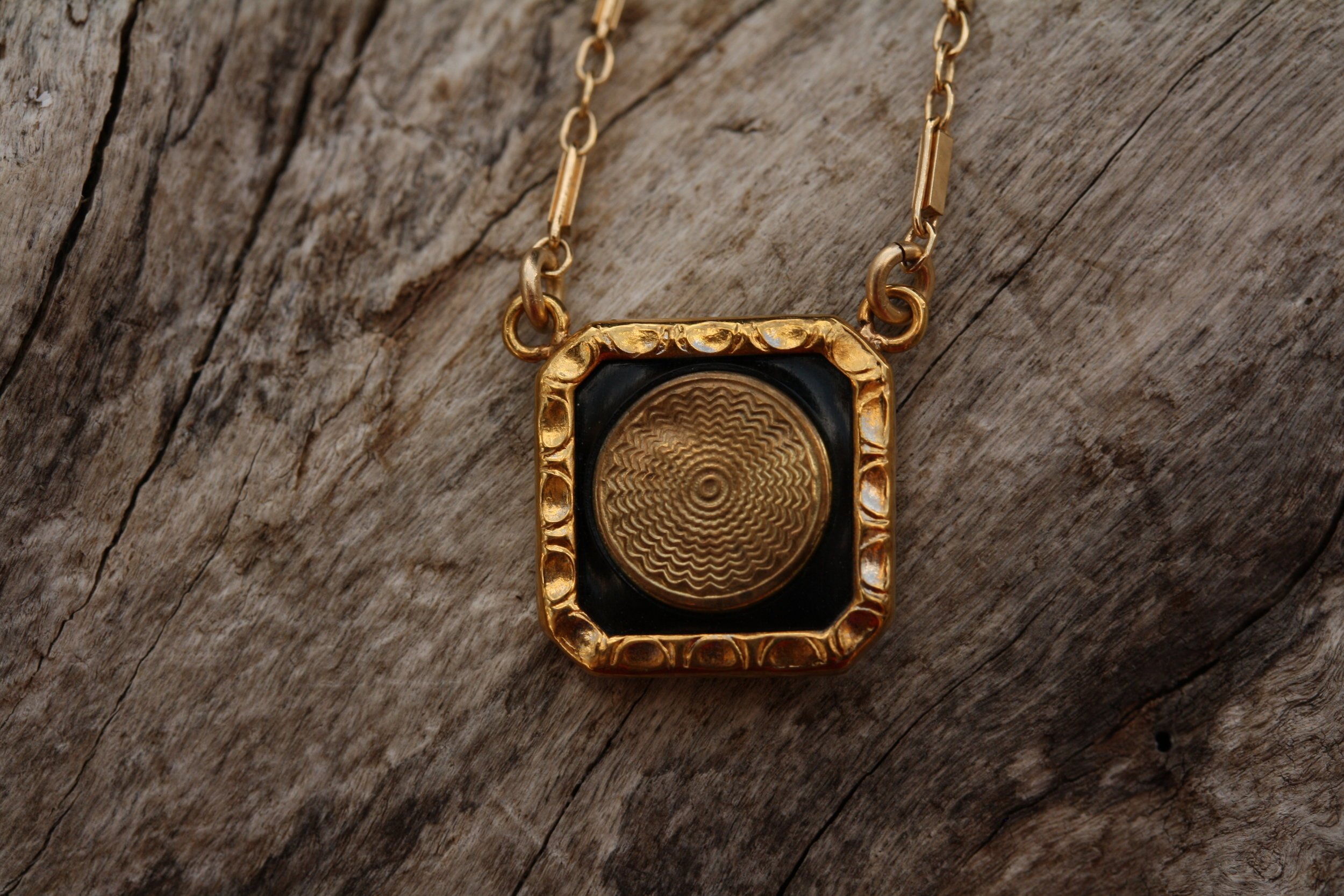 VCON Black and Gold Square Cufflink to Pendant Necklace_12 copy.JPG