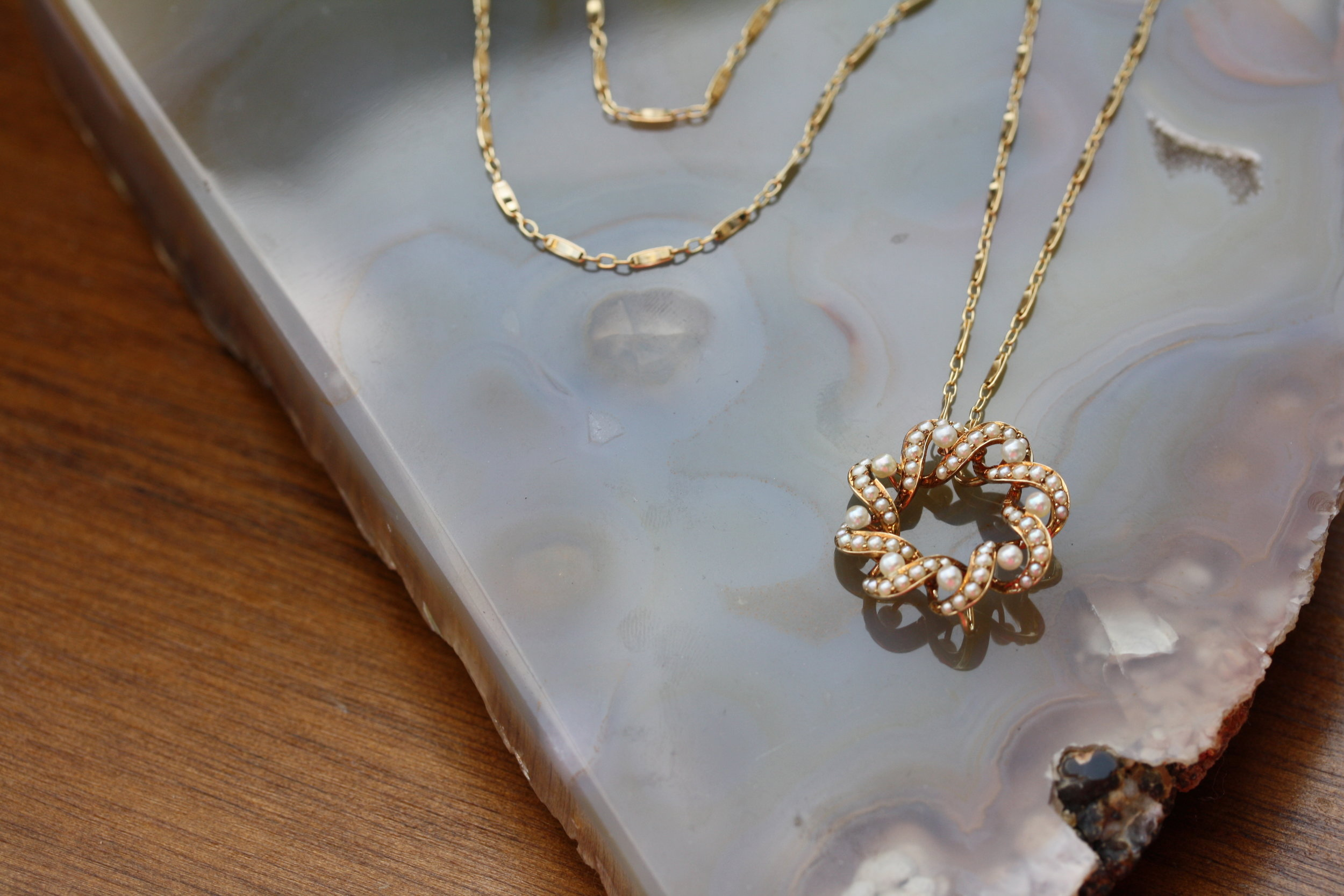 VCON Victorian Pearl Wreath Pendant on Vintage Inspired Chain Necklace_02 copy.JPG