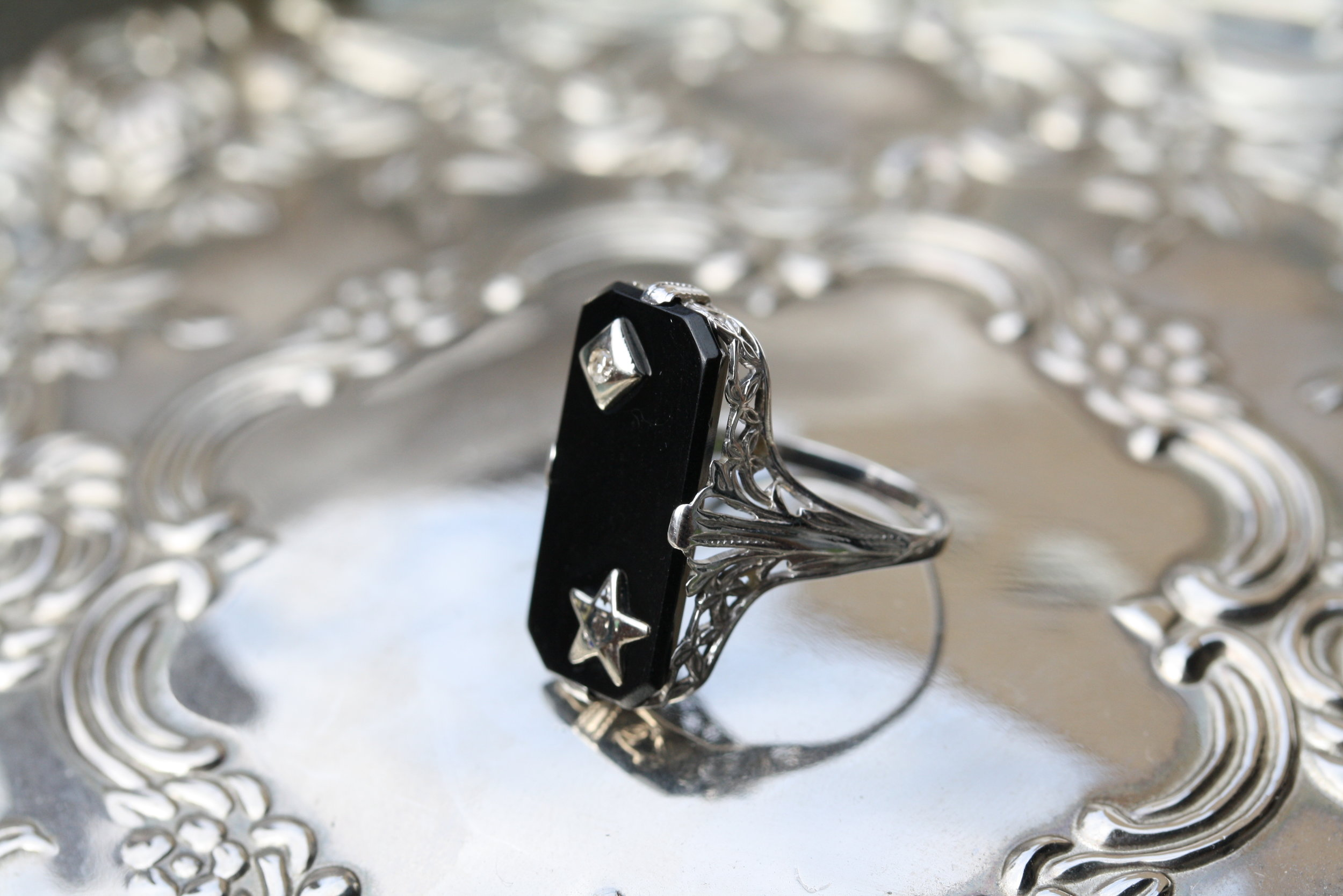 Estate Ring Black Rectangle Star Diamond_21 copy.JPG