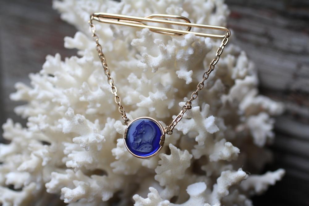Carved+Blue+Knight+Chain+Vintage+Tie+Clip_02.jpg