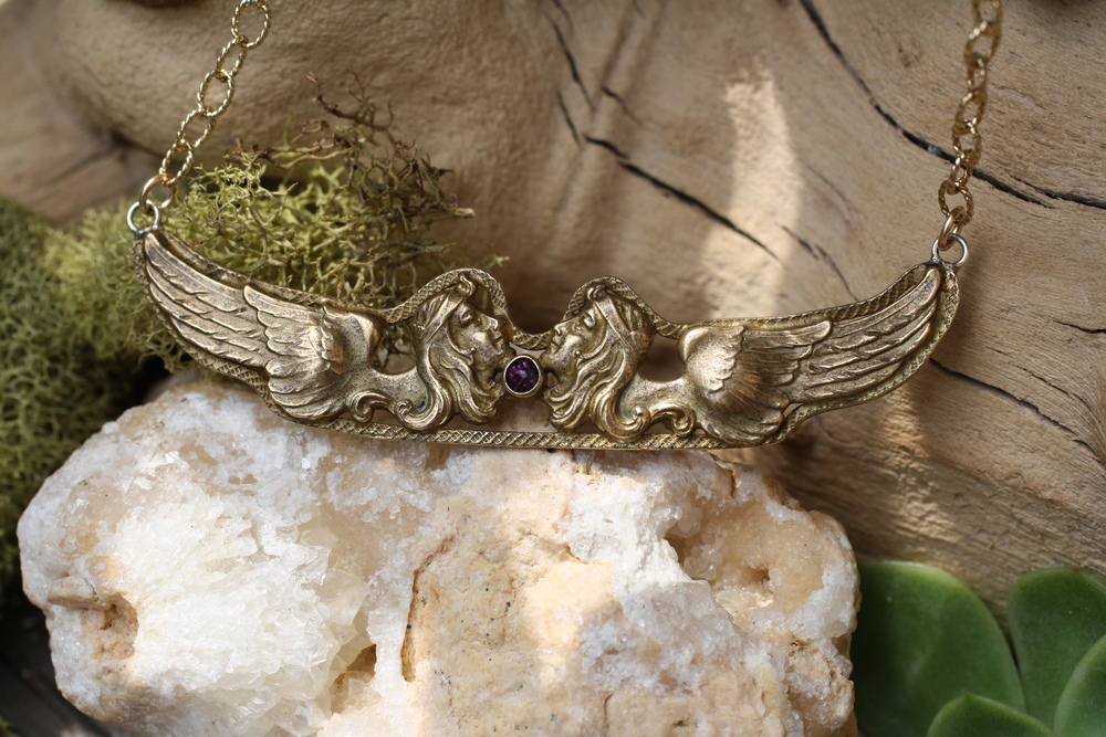 Victorian+Double+Sphinx+Pin+w+Amethyst+GF+Etched+Chain+VCON+Necklace_03.jpg