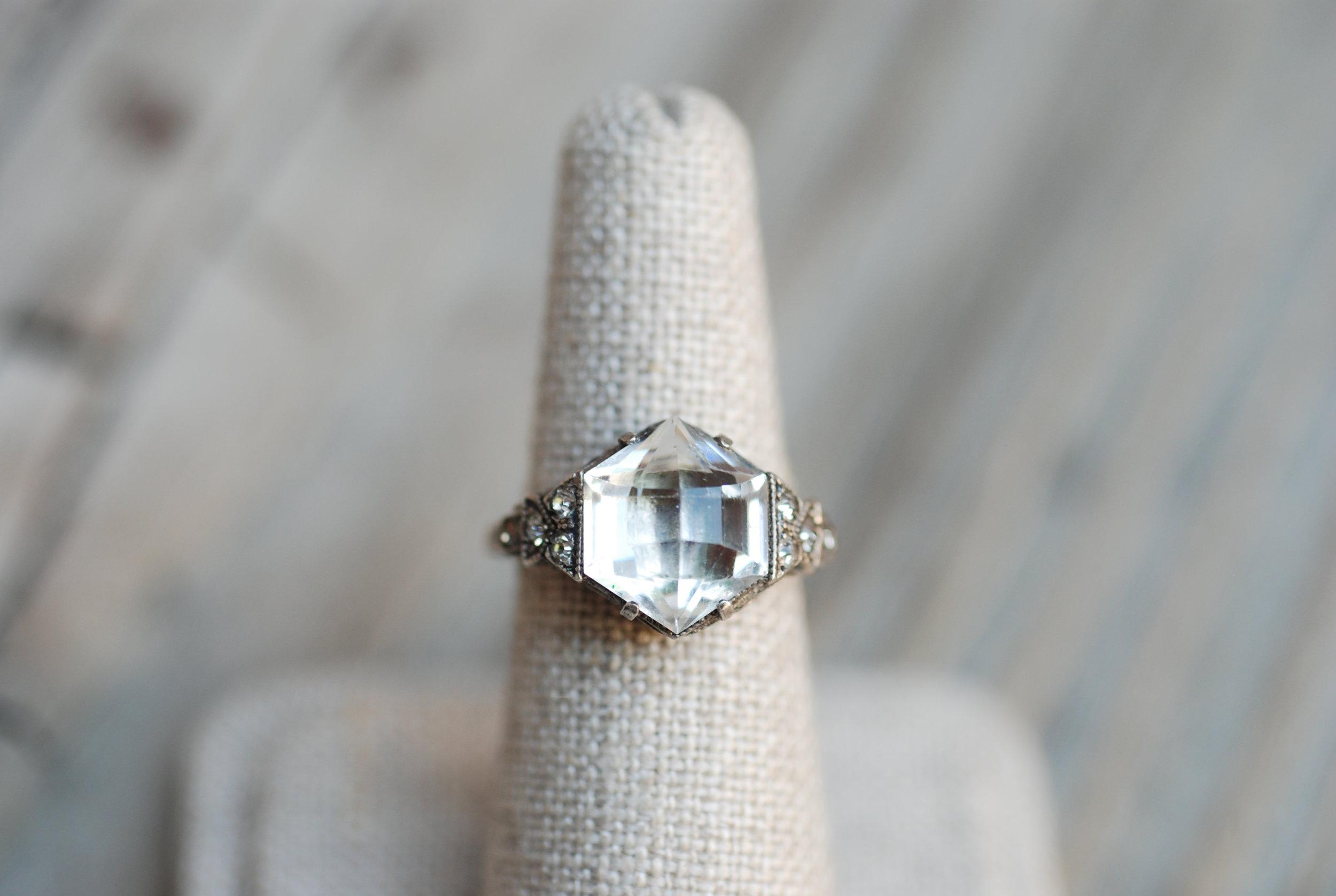 Caleb - Geometric CZ & WG Filligree Vintage Ring_01.JPG