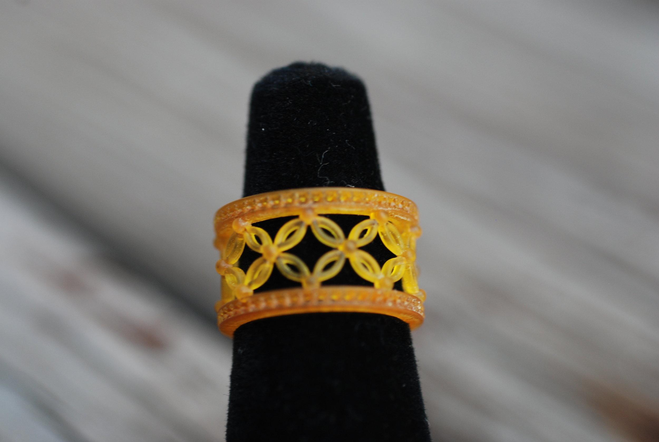 Orange Flower Clear Vintage Ring_02.JPG