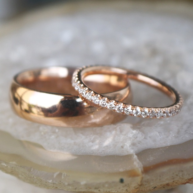 Taamer+Tullgren+&+Elizabeth+Bjornseth+Wedding+Band+Rose+Gold+Diamond+Eternity+and+Rose+Gold+High+Polished+Mens+Band_24.jpg