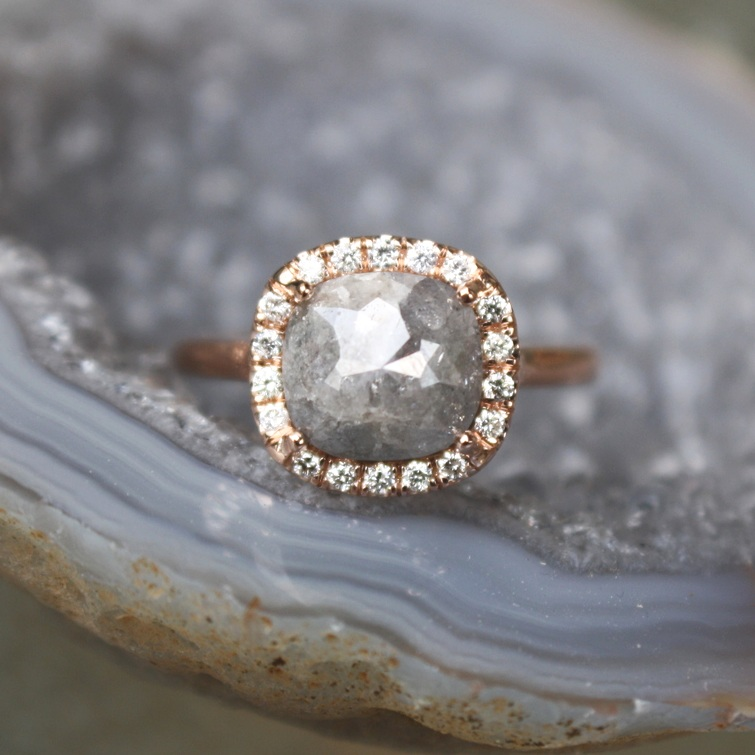 AJ+Smart+and+Arianna+Grey+Diamond+with+Rosegold+and+Pave+Diamond+Halo+Engagement+Ring15.jpg