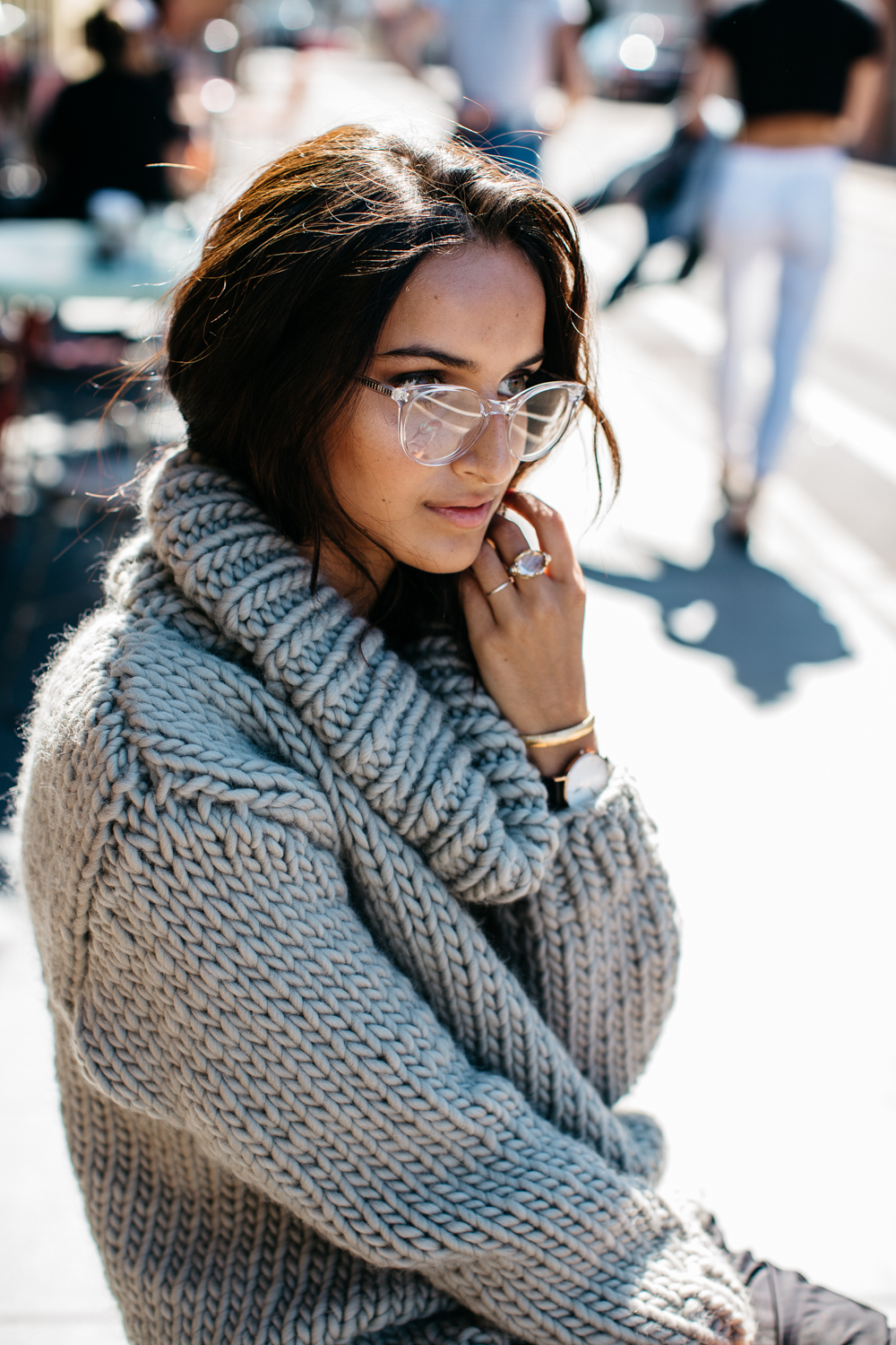Chunky Knit ( ILoveMrMittens )// Similar Jumpers ( here ,  here ,  here ), Glasses ( Oscar Wylee ),  Vans