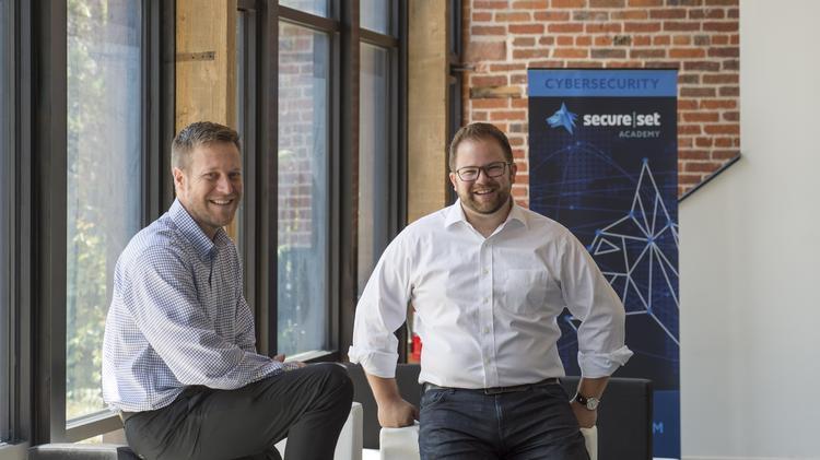 Brett Fund (left) and Alex Kreilein, co-founders of SecureSet. Photo by Kathleen LaVine of the Denver Business Journal.