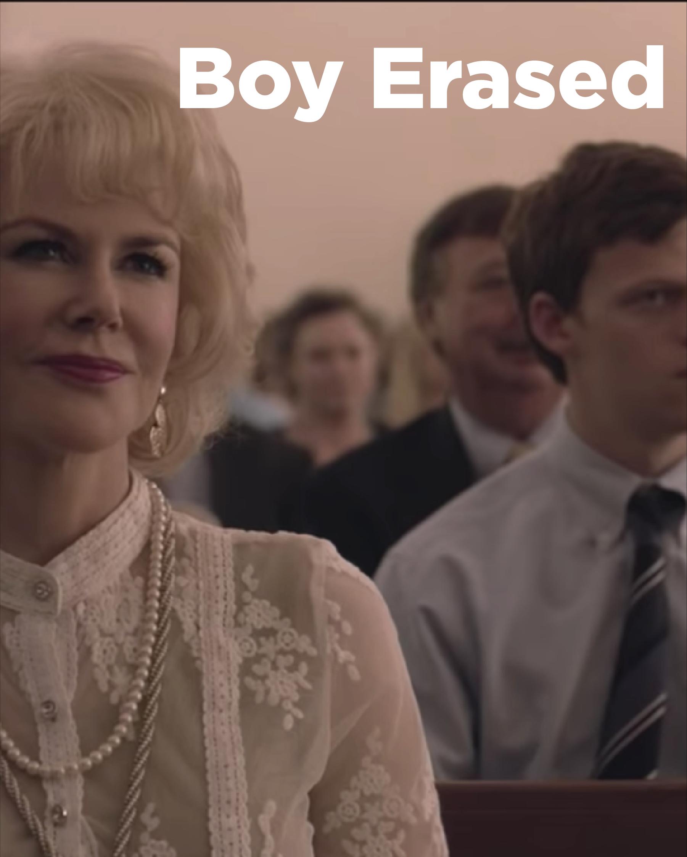 Directed by Joel Edgerton, Starring Lucas Hedges, Nicole Kidman, Joel Edgerton, and Russell Crowe