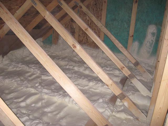 R40 spray foam insulation.