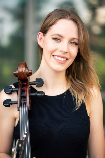 Brynna Abel - Cello - Beginning at age 6, Brynna took piano lessons and later picked up the cello at age 11. She continued practicing and competing with both of these instruments until college where she graduated from UT Austin with a major in Biology and minor in Violoncello. Post graduation, she started working at the Seton hospitals in Austin and kept music in her life through various performances, including those with Thee Phantom and the Illharmonic Orchestra, and teaching middle school cellists. Most recently, she began volunteering with Kids In a New Groove where she provides cello lessons for children and teens in foster care. When not at work or volunteering, she enjoys spending time around animals and aspires to have a career related to teaching or in veterinary medicine.