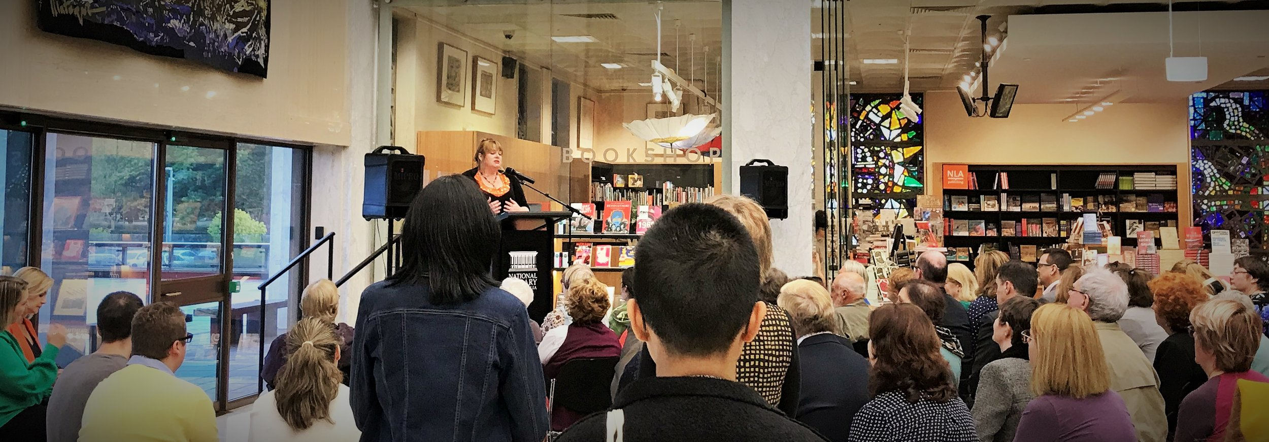 It was a sold-out crowd at the National Library of Australia  for the official launch of  Egyptian Enigma