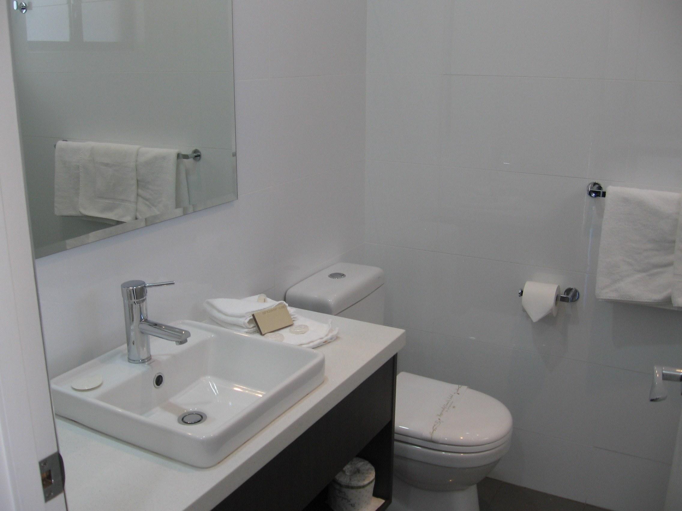 Ensuite with walk-in shower John Bright Motor Inn