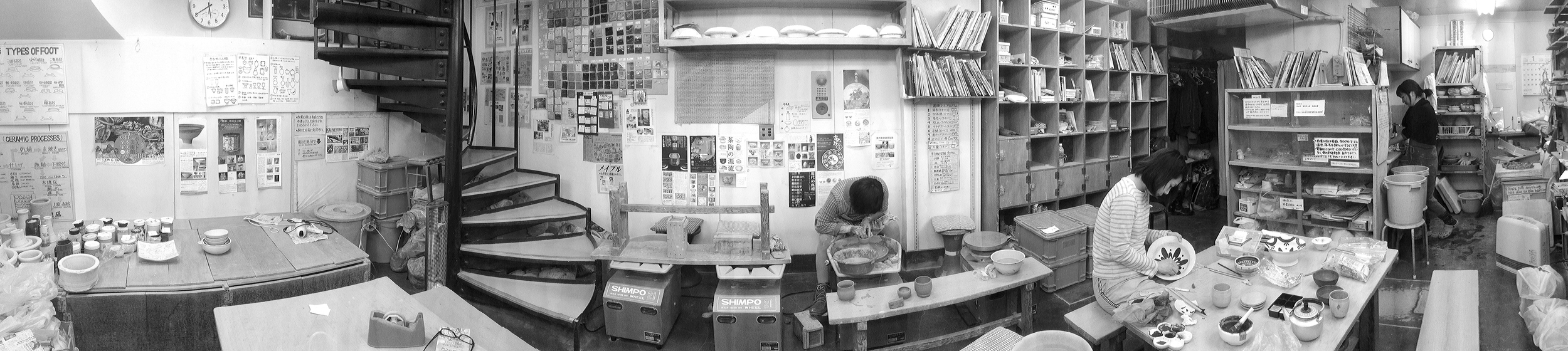 Throwing at the studio in Shibuya, Japan 2015