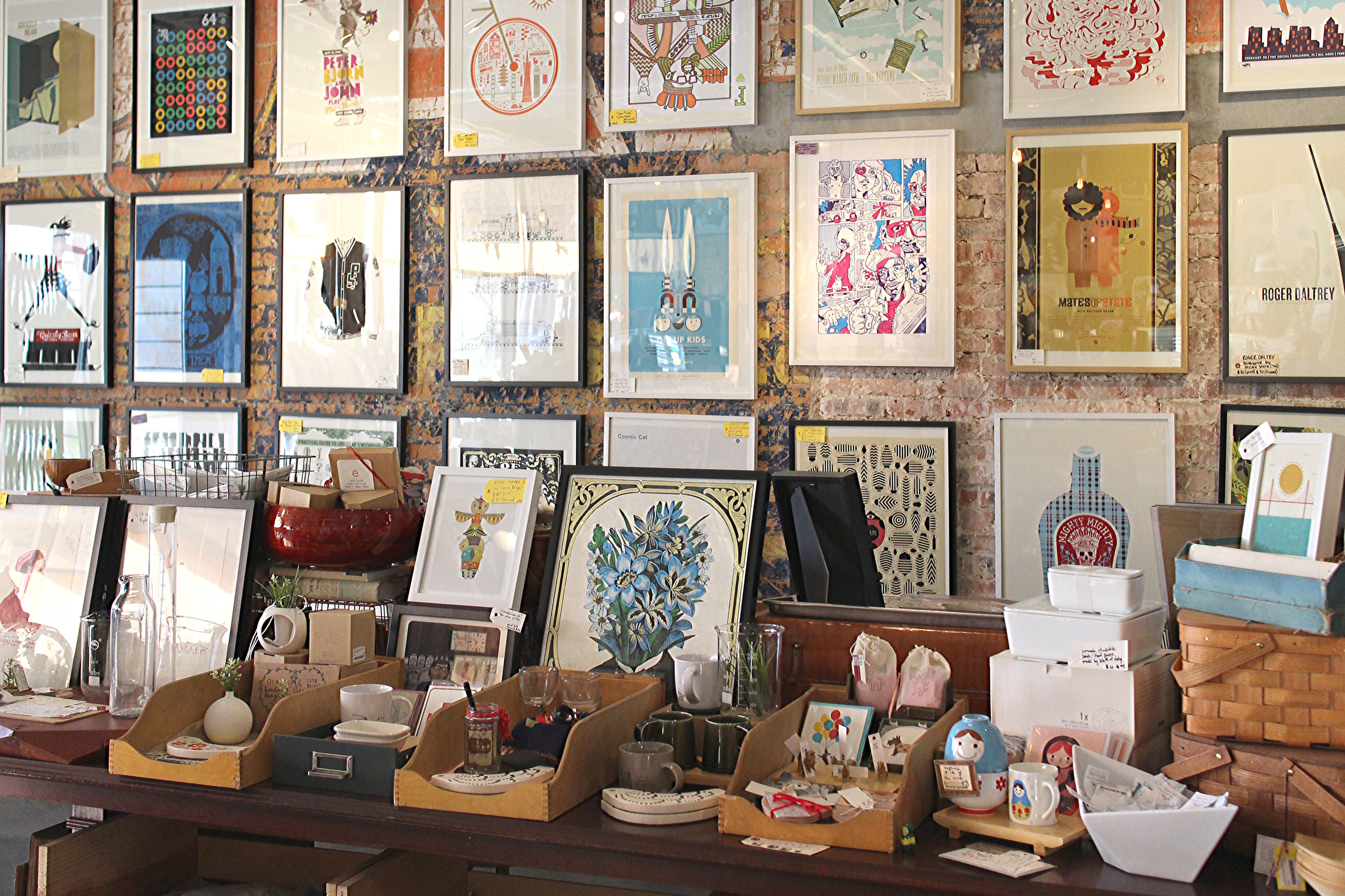 So happy to have some prints and ceramics at this cute shop!
