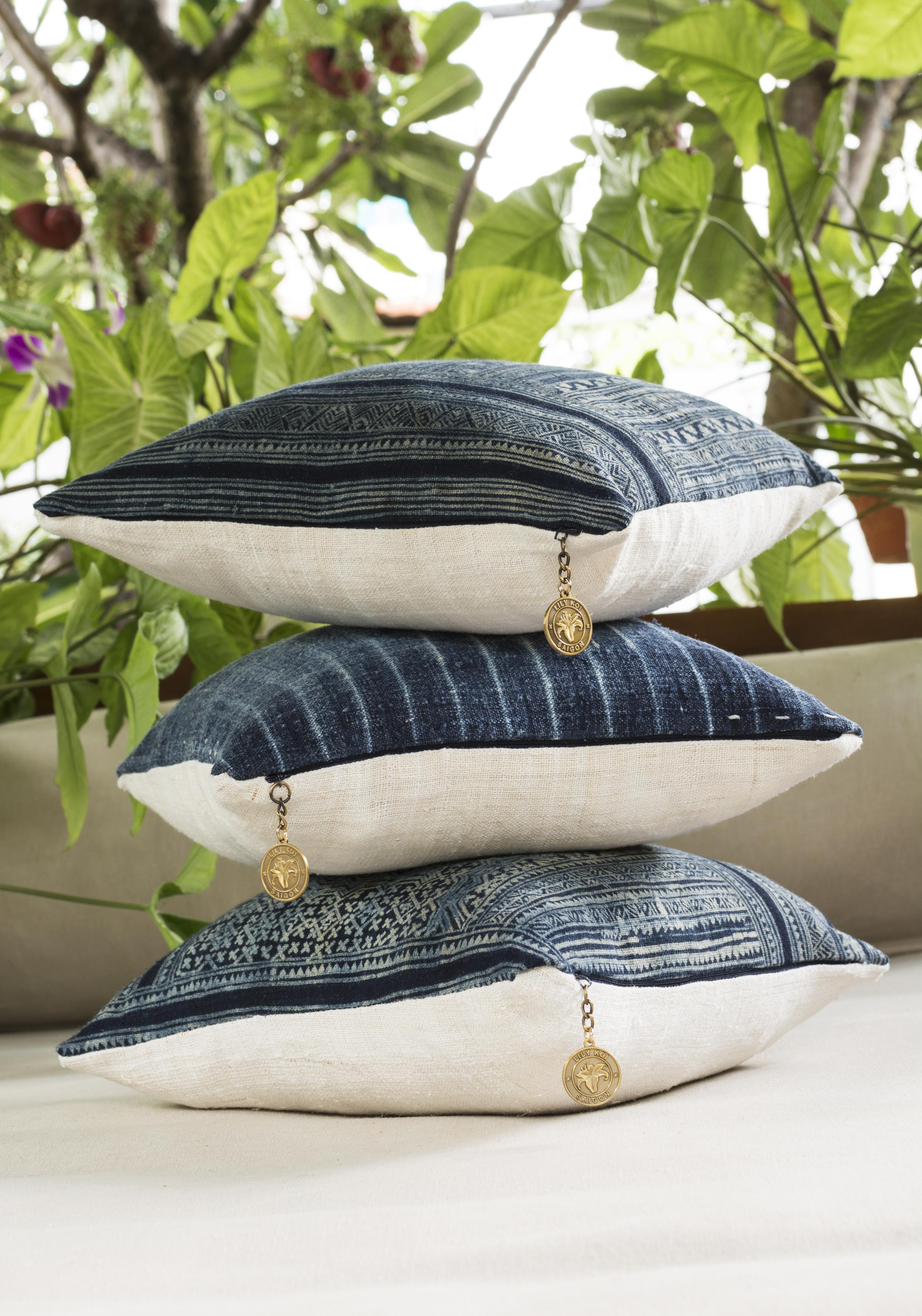 Lily Koi Vintage Indigo Ercu Pillow 6.jpg