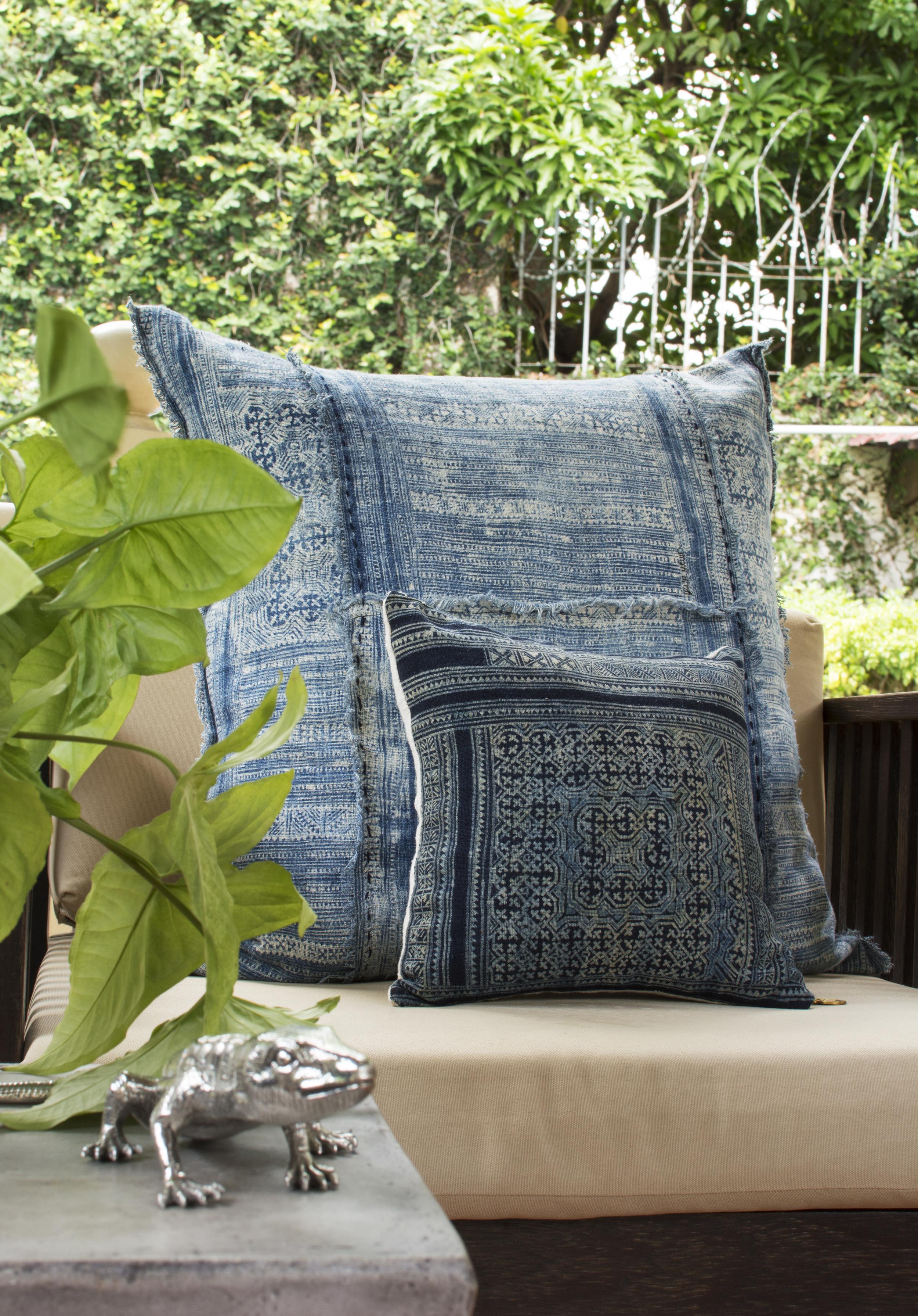 Lily Koi Vintage Indigo Ercu Pillow 8.jpg