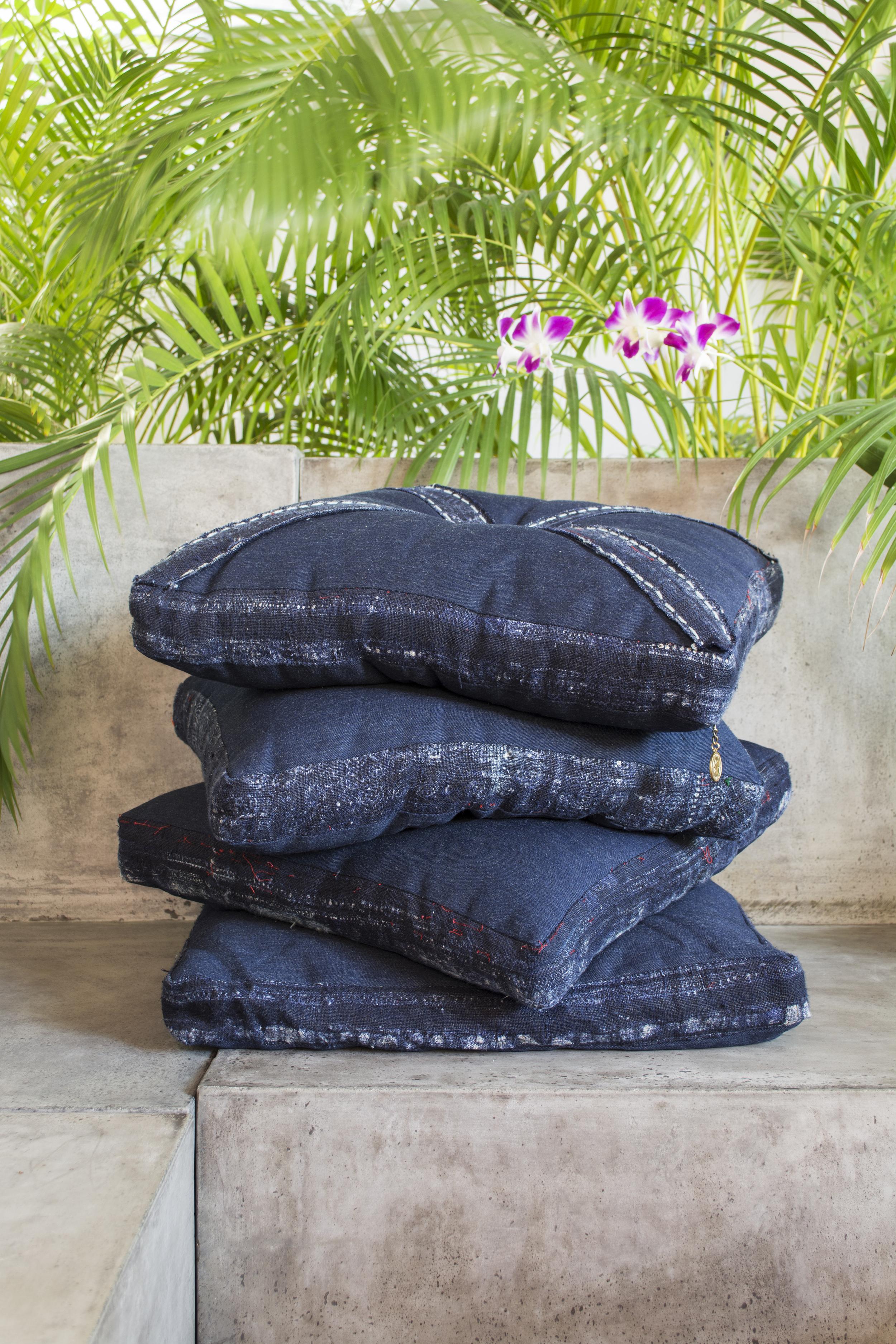 Lily Koi Vintage Indigo Sided Pillow 2.jpg